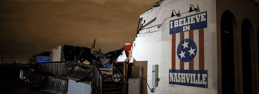 Nashville Tornado Damage - The Basement East